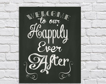 Welcome to our happily ever after 5x7 -instant download-PDF file