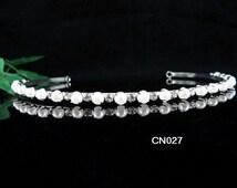 Teen Girl Headband;Simple Pearl Bridesmaid headband ; Pageant Bridal Tiara;Wedding Tiara ;Dancer Accessories; Fancy Bridal Tiara #1807s