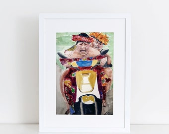 DIGITAL DOWNLOAD, 8x10 Wahines on a Moped