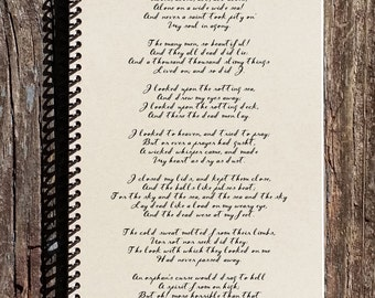 The Rime of The Ancient Mariner - Rime of the Ancient Mariner Notebook - Rime of the Ancient Mariner Journal - Literature Notebook