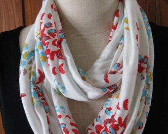 FREE SHIPPING**Infinity Scarf Abstract Fish