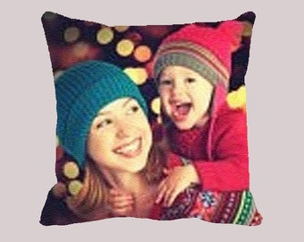 Custom Customizable Personalized Your Photo Picture - 16inch Cushion Cover, panel, with insert filling fabric Cotton Pillow Case