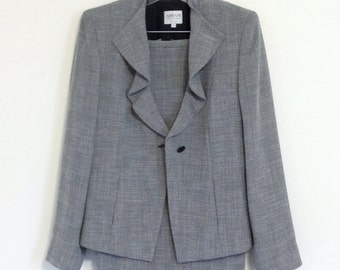 Armani Suit - Womens Size 8 Armani Collezioni Grey Business Suit - Chic Business Suit - Women's Business Skirt Suit - Women's Suit Grey