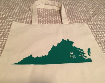 LOVE RVA Tote Bag {Customize with your home state/hometown}