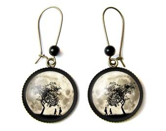Moonlight earrings & Onyx beads