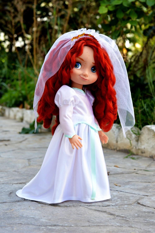 Ariel 39 s wedding dress for disney animator by littlebigboutique for Disney mermaid wedding dress