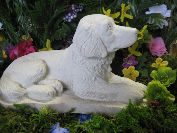 Cement Backyard Dog : dog concrete statue , cement lab collectibles, memorial yard