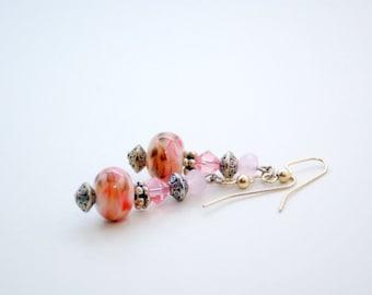 Strawberry Sundae Dangle Earrings