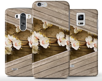 White Flowers On Wood Unique Hard Case Cover Apple iPhone 5 5s 5c 6 6+ Plus Samsung Galaxy S6 s4 s5 Note 3 4 Sony Xperia Z3 Z1 Z2 Lg G2 G3