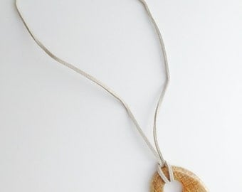 Wooden Pendant Necklace- Short