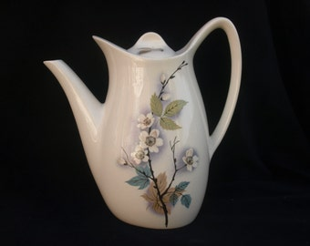 Sixties Vintage Retro Midwinter Stylecraft Fashion Shape Orchard Blossom Pattern Coffee Pot