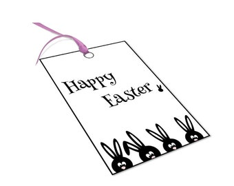Easter bunny gift tags, Printable Easter tags, Easter printable gift tags