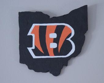 Cincinnati Bengals // Wood Ohio Cut-Out // Home Decor // Wall Hanging