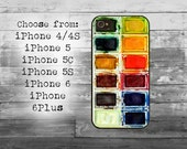 Used watercolors cover - iPhone 4/4S, iPhone 5/5S/5C, iPhone 6/6+ case,  iPhone 6s/6s Plus  - watercolor set box iPhone case