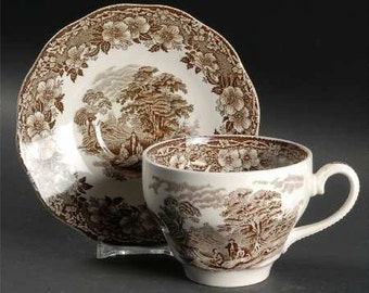 Wedgwood Brown Woodland Cup & Saucer
