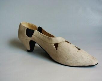 Handmade Ceramic High Heel Shoe Sculpture - Free Shipping