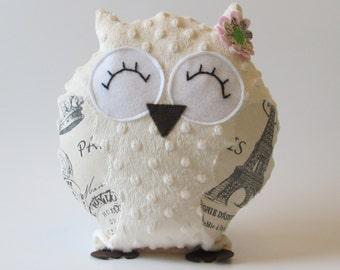 Plush Owl, Stuffed Owl, Owl throw pillow, Owl Pillow, Owl Decor, Nursery Decor, Baby, Owl decor, Baby Shower gift, Home Decor, Throw pillow