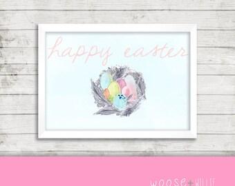 Printable Art - Happy Easter - Home Decor