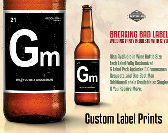 WEDDING BEER LABELS - Breaking Bad Beer Labels. For that wedding with Chemistry.