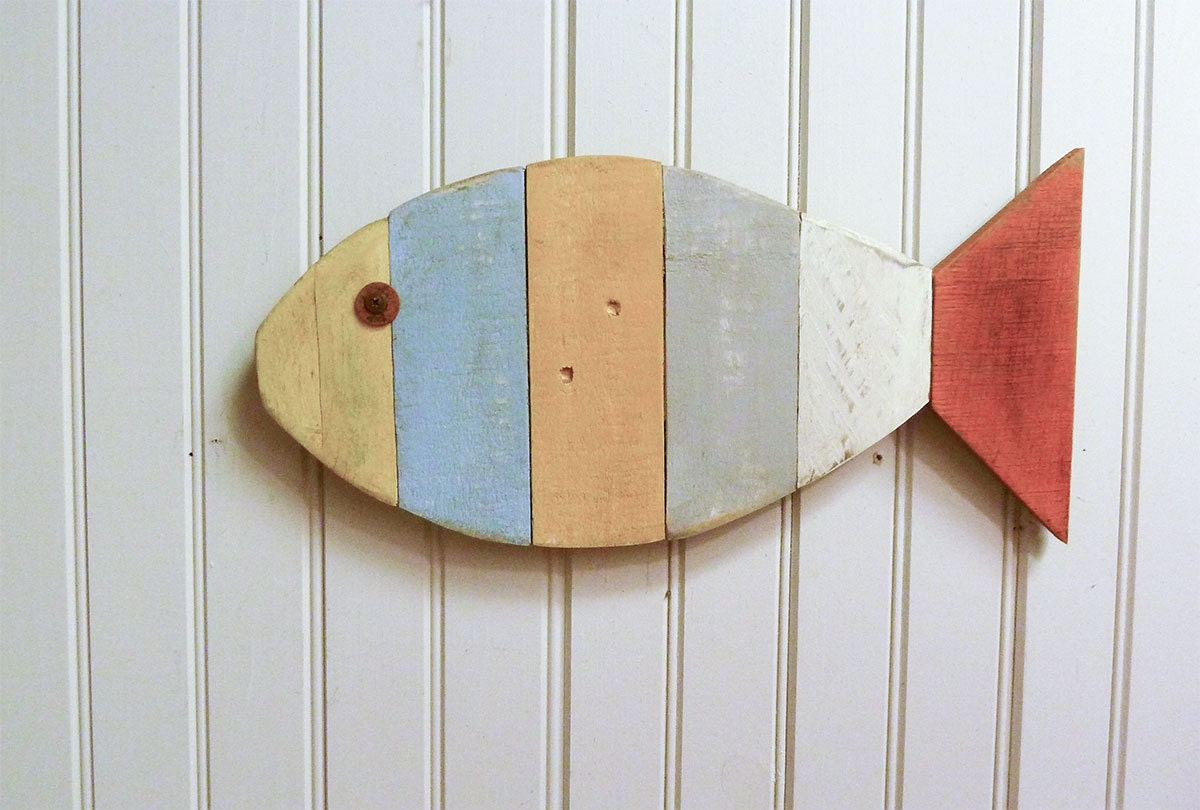 Painted fish wall hanging 17 home decorating ideas zoom amipublicfo Gallery