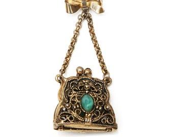 Vintage Locket Brooch