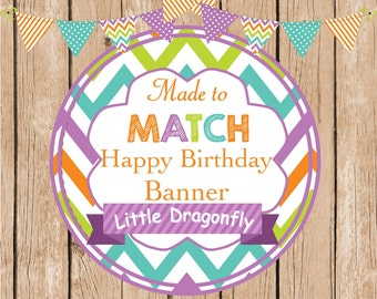 Made to Match Happy age Birthday Banner