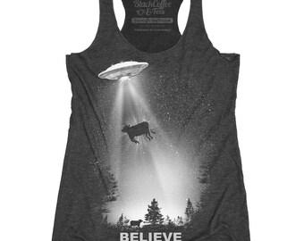 UFO Alien I Believe Women's Shirt