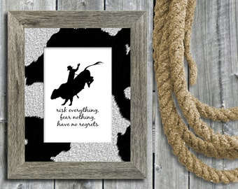Bull Riding / Rodeo Graphic Image Files (2) - INSTANT DOWNLOAD - 8x10 Printable Wall Art - 300dpi JPGs