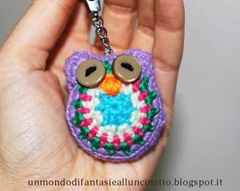 Crochet owl - amigurumi - lucky charm