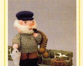 PDF Vintage Woolly Wotnot Knitting Pattern – Fisherman, Doll, Toy - PDF instant download