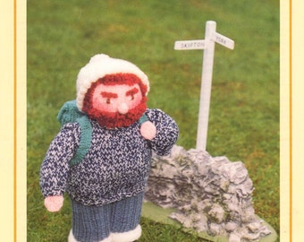 PDF Vintage Woolly Wotnot Knitting Pattern – The Hiker, Doll, Toy - PDF instant download