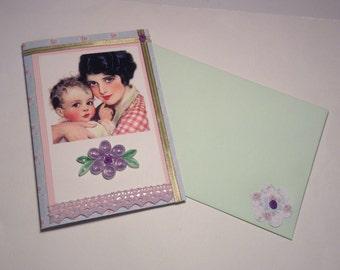 Handmade vintage style card,