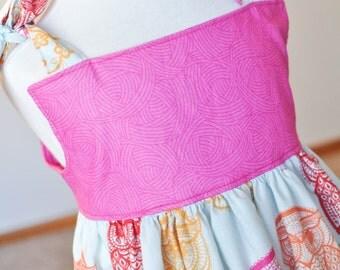 Girls Boutique Dress, Owl Dress, Pink Girls Dress, Ready to Ship, 3T Handmade Dress, Toddler Dress, Winter Layer Dress, One of A Kind Dress