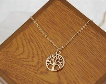 Ladies Gold Silver Tree Of Life Necklace Jewellery Wicca Wiccan Witch Spiritual