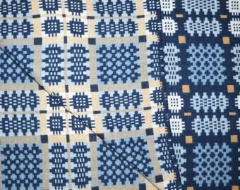 Pure Wool Welsh Tapestry Blanket - Blue
