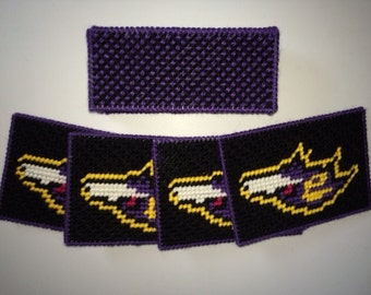 Ravens Coasters with Holder
