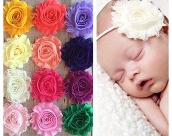 PICK 1 HEADBAND, Shabby Chic Headbands, Baby Headbands, Choose your color, Newborn Headbands, Baby Girl Headbands, Photo session