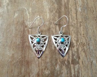Sterling silver gemstone earrings/ Sleeping beauty earrings/ 925 sterling silver earrings