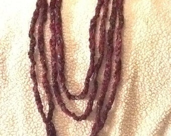 Burgundy rope scarf