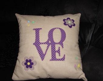 """16"""" x 16"""" Love Cushion Cover"""