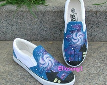 Painted Galaxy Converse Custom Shoes,Hand Painted Shoes,Custom Converse,Painted Shoes,Birthday Gifts,Fashion Sneaker,Casual Shoes 119
