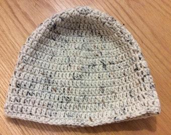 White Speckled Crochet Hat