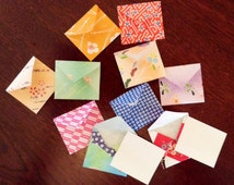 Mini envelopes and inserts, tiny envelopes, tiny cards, random patterns, tooth fairy letter, party favour, lunch box note, wedding favour