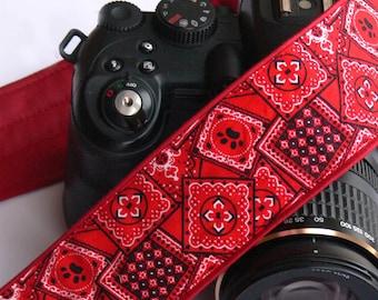 Red Camera Strap. DSLR SLR Camera Strap. Geometric Camera Strap. Camera Accessories