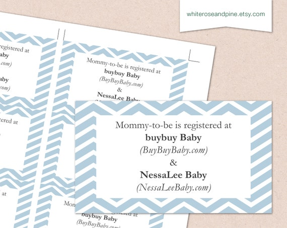 It is a graphic of Sizzling Free Printable Baby Registry Cards