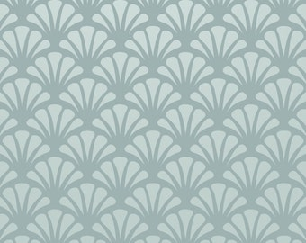 Reusable Wall Stencil Seashell Repeat Pattern. Available In 10 or 14 Mil Mylar at no extra charge. SKU: S0012