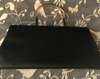 Navy Clutch Hand Bag: Vintage 50's                                                                            VG1366
