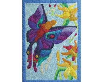 Fairy Dreams  an appliqued and quilted wall hanging pattern
