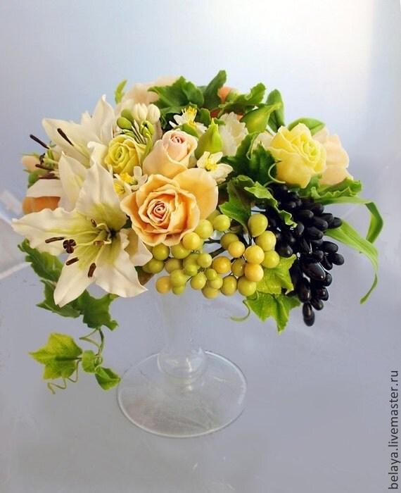 Arrangement de fleurs porcelaine froide la par coldporcelaine for Arrangement de cuisine