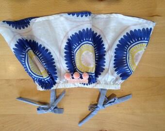 Size 0 Handmade Baby Girls Trapeze Top with Pom Pom detail